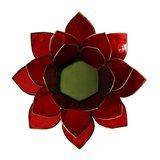 Lotus sfeerlicht | Rood met goud
