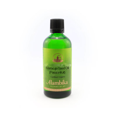 Alambika - Basis olie: Maracuja Seed / Passiebloem Olie Biologisch Gecertificeerd 100 ml (tht: 07-2019)
