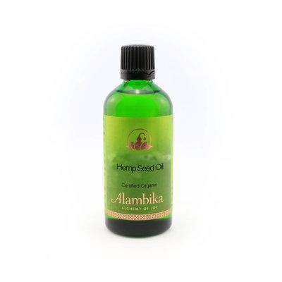 Alambika - Basis olie: Hennepzaad Olie Biologisch Gecertificeerd 100 ml (tht: 10-2019)