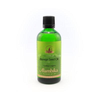 Alambika - Basis olie: Borage Seed Olie Biologisch Gecertificeerd 50 ml (tht: 03-2020)