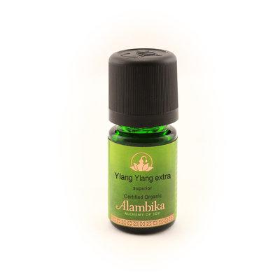 Alambika - Etherische olie: Ylang Ylang Extra Superior, Biologisch Gecertificeerd