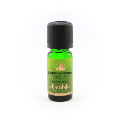 Alambika - Etherische olie: Leptospermum Citratum Wildcrafted Biologisch Gecertificeerd 10 ml (tht: 03-2020)
