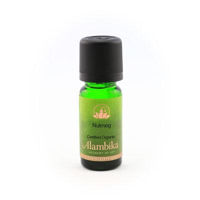 Alambika - Etherische olie: Nutmeg / Nootmuskaat Biologisch Gecertificeerd 10 ml (tht: 03-2022)