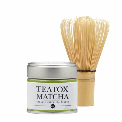 Teatox - Starterset: Bio Green Matcha Tea Powder & Bamboo Brush
