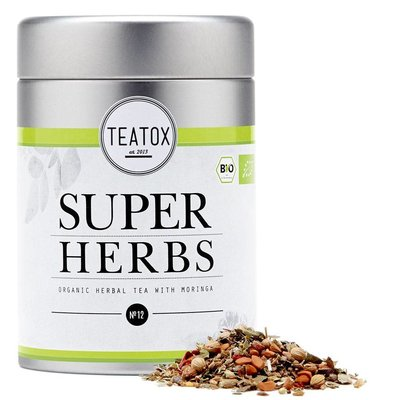 Teatox - Biologische Losse Thee In Blik: Super Herbs