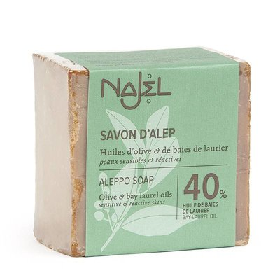 Najel - Aleppo Zeep: Pure Olive Soap 40% Laurier