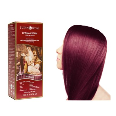 Surya Brasil - Henna Haarkleuring:  Cream Marsala
