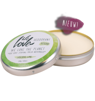 We Love The Planet - Natuurlijke Deodorant Blik: Luscious Lime