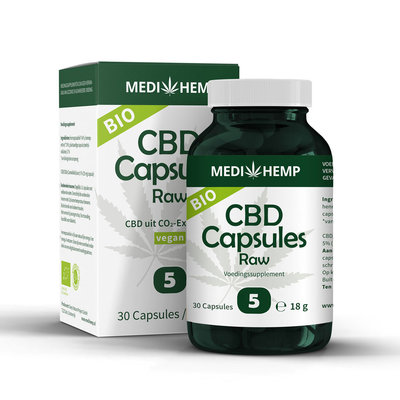 Medihemp - Biologische CBD Capsules Raw 5%