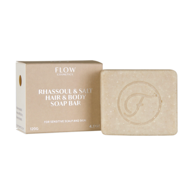Flow Cosmetics - Shampoo & Body Bar: Rhassoul & Salt Gevoelige En Droge Huid
