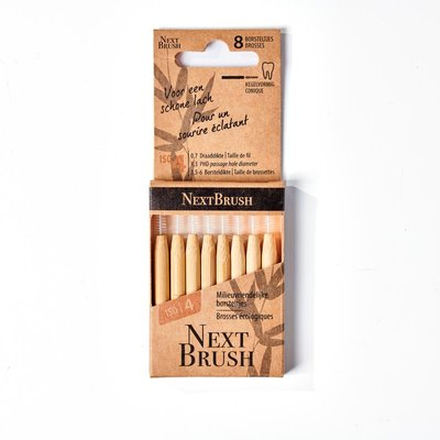 NextBrush - Bamboe Interdentale Ragers ISO 4 Conisch