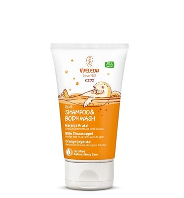 Weleda - Kids: 2 in 1 Shampoo & Body Wash Blije Sinaasappel