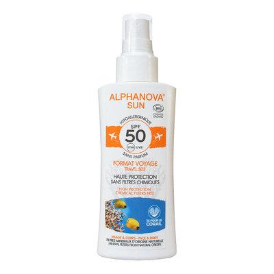 Alphanova - Bio Sun Spray SPF50 Parfumvrij Travelsize