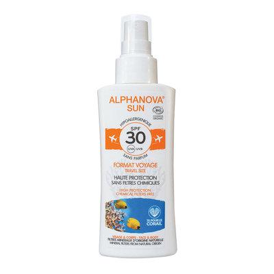 Alphanova - Bio Sun Spray SPF30 Parfumvrij Travelsize