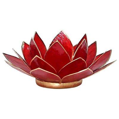 Lotus Sfeerlicht: Rood 1e Chakra Goudrand