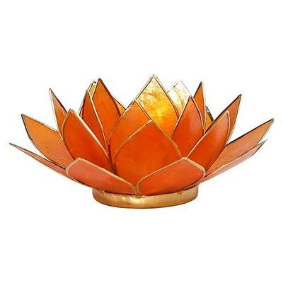Lotus Sfeerlicht: Oranje 2e Chakra Goudrand