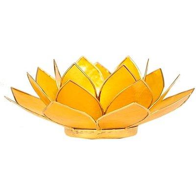 Lotus Sfeerlicht: Geel 3e Chakra Goudrand