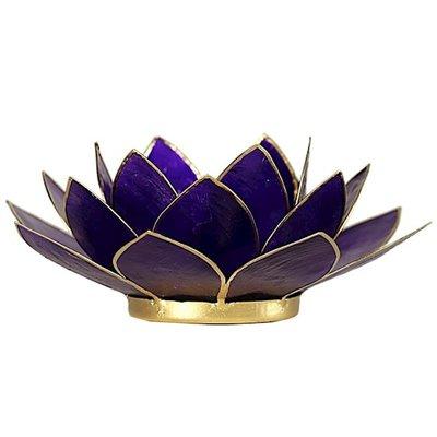 Lotus Sfeerlicht: Violet 7e Chakra Goudrand