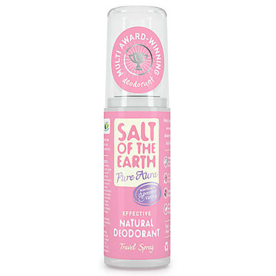 Salt Of The Earth - Travelsize: Pure Aura Scented Natural Deodorant Spray 50 ml