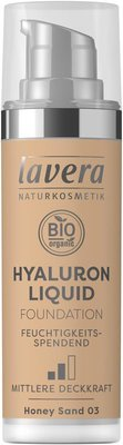Lavera - Liquid Foundation Hyaluron: Honey Sand 03