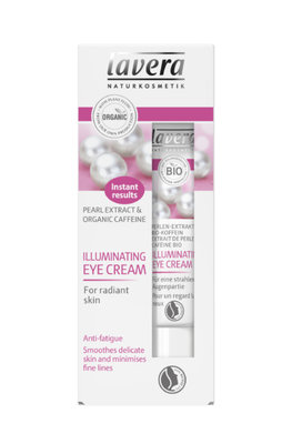 Lavera - Illuminating Eye Cream: Pearl Extract & Organic Caffeine
