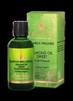 Alambika - Basis olie: Sweet Almond / Zoete Amandel Olie Biologisch Gecertificeerd 50 ml (tht: 03-2021)