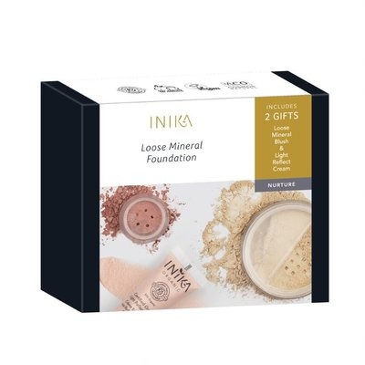 INIKA - Loose Mineral Foundation Set: Matte & Flawless Kit | 2 Free Gifts