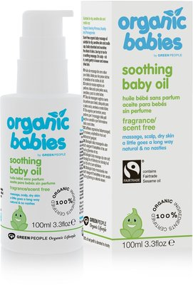 Green People - Organic Babies: Soothing Baby Oil Scent Free