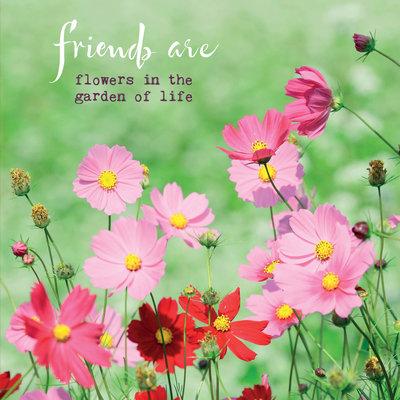 ZintenZ - Dubbele Kaart: Friends Are Flowers In The Garden Of Life