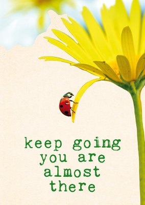 ZintenZ - Kaart: Keep Going You Are Almost There