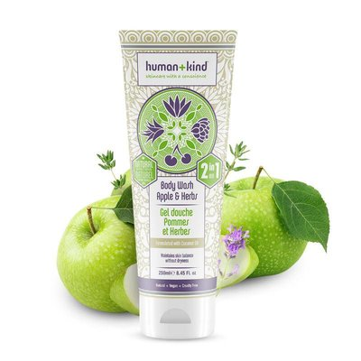 Human+Kind - Shampoo & Body Wash: Apple Herbs All-In-One