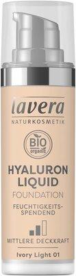 Lavera - Hyaluron Liquid Foundation: Ivory Light 01