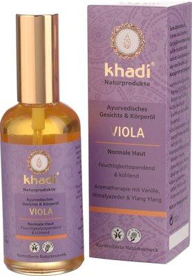 Khadi - Face & Body Oil: Viola 100 ml (tht: 02-2021)