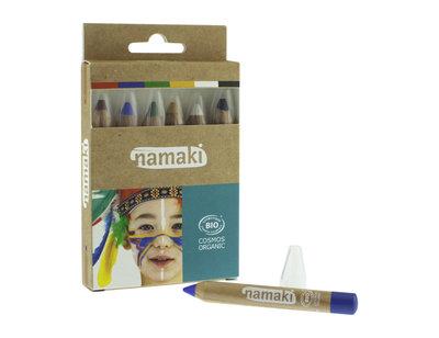 Namaki Cosmetics - Schmink Potloden 6 Kleuren: Rainbow