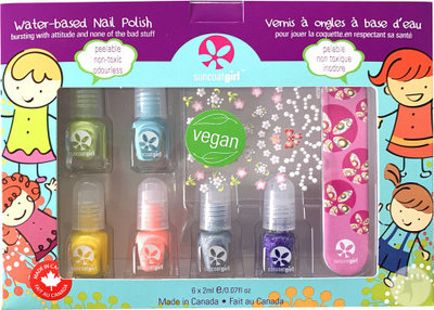 Suncoat Girl - Non Toxic Nagellak Set 6 Kleuren: Mini Mani Vegan
