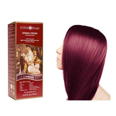 Surya Brasil - Henna Haarkleuring:  Cream Marsala (tht: 01-2021)