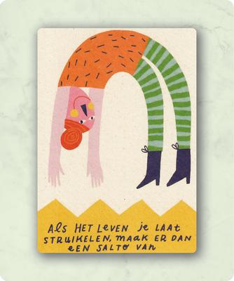ZintenZ - Kaart: Als het leven je laat struikelen.......