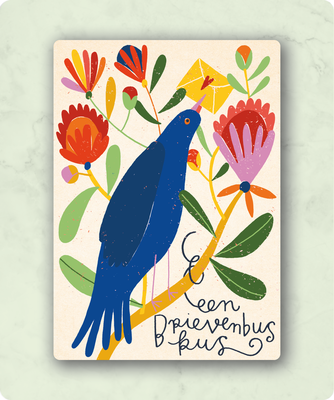 ZintenZ - Kaart: Een brievenbus kus