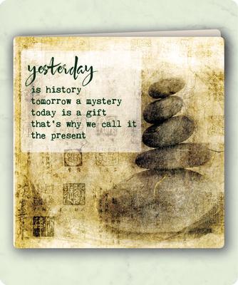 ZintenZ - Dubbele Kaart: Yesterday is history tomorrow a mystery...........