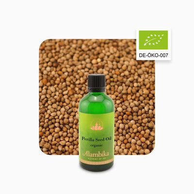 Alambika - Basis olie: Perillazaad Olie Biologisch Gecertificeerd 100 ml (tht: 03-2021)