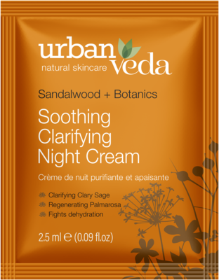 Urban Veda - Sample Soothing Clarifying Night Cream 2,5ml