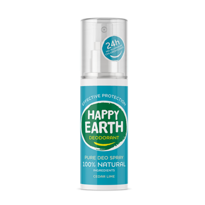 Happy Earth - Pure Deo Spray: Cedar Lime