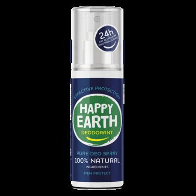Happy Earth - Pure Deo Spray: Men Protect