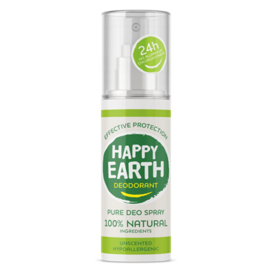 Happy Earth - Pure Deo Spray: Unscented Hypoallergenic