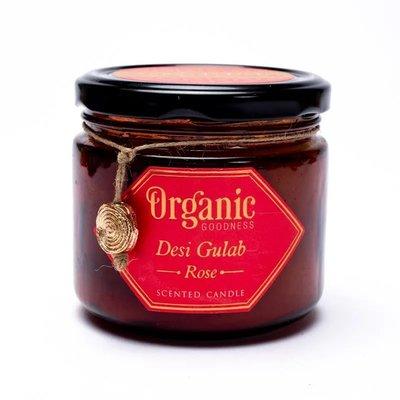 Organic Goodness - Sojawas Geurkaars: Rose