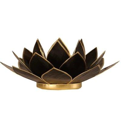 Lotus Sfeerlicht: Zwart Goudrand