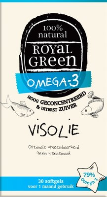 Royal Green - Omega 3 Visolie 30 softgels
