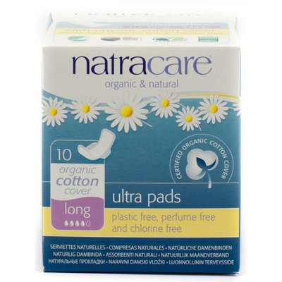 Natracare - Maandverband Long Met Vleugels / Natural Ultra Pad With Wings Long