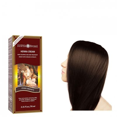 Surya Brasil - Henna Haarkleuring:  Cream Dark Brown