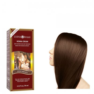 Surya Brasil - Henna Haarkleuring:  Cream Light Brown